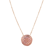August Woods Rose Gold Pink Open Necklace