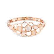 August Woods Rose Gold Pink Stone Circle Bracelet