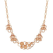 August Woods Rose Gold Pink Stone Circles Necklace