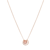 August Woods Rose Gold Pink Stone Circle Necklace