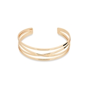 August Woods Rose Gold Plain Open Layer Bangle