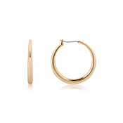 August Woods Rose Gold Plain Thick Hoop Earrings