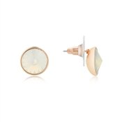 August Woods Rose Gold Opal Stud Earrings