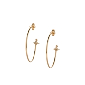 Vivienne Westwood Rosemary Rose Gold Hoop Earrings