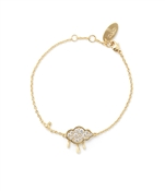 Vivienne Westwood Shira Cloud Gold Bracelet
