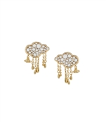 Vivienne Westwood Shira Cloud Gold Earrings
