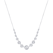 August Woods Silver Clear Crystal Alternate Necklace