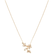 August Woods Rose Gold Clear CZ Butterfly Necklace