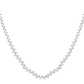 August Woods Silver Crystal Row Necklace