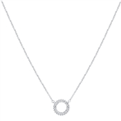 August Woods Silver Crystal Accent Open Necklace
