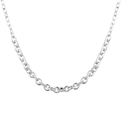 August Woods Silver CZ Oval Linked Necklace