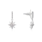Dirty Ruby Silver Crystal Star Drop Earring