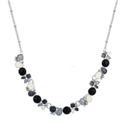 August Woods Silver Grey White Pebble Necklace