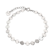 CLUSE Silver Hexagon Chain Bracelet