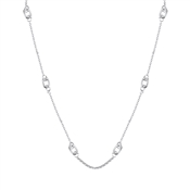 August Woods Silver Long Open Knot Necklace