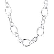 August Woods Silver Large Chain Toggle Necklace