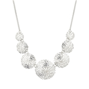 August Woods Silver Intricate Mesh Necklace