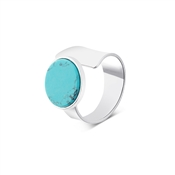 Dirty Ruby Silver Turquoise Open Ring