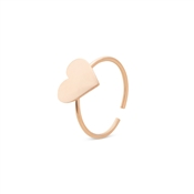 Storie  Rose Gold Heart Charm Ring