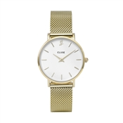 CLUSE Minuit Heart Gold Mesh Watch and Bracelet Gift Box