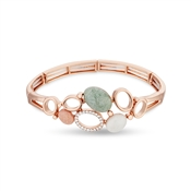 August Woods Rose Gold Geo Rock Layered Bracelet