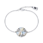 August Woods Silver Opal Multi Crystal Bracelet