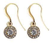 Pilgrim Gold Drop Clementine Earrings