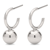 Pilgrim Silver Poe Ball Earrings