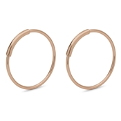 Pilgrim Rose Gold Raquel Hoop Earrings