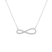 Karma Silver Infinity Necklace