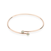 Karma Rose Gold August Wrap Bangle
