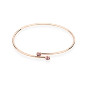 Karma Rose Gold February Wrap Bangle