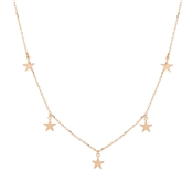 Karma Rose Gold Five Drop Stars Necklace