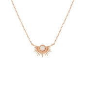 Karma Rose Gold Opal Rays Necklace