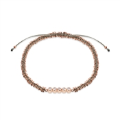 Karma Rose Gold & Grey Crystal Pull Bracelet