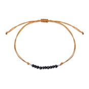 Karma Black & Orange Pull Bracelet