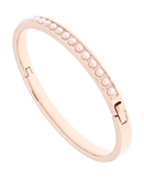 Ted Baker Clemara Rose Gold White Pearl Hinge Bangle