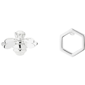 Ted Baker Bellema Brushed Silver Bumble Bee Stud Earring