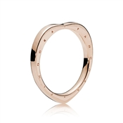 PANDORA Signature Arcs of Love Ring, PANDORA Rose