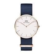Daniel Wellington Bayswater White 36mm Rose Gold Watch
