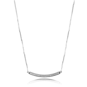 PANDORA Silver Bar Reversible Necklace