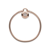 Pandora Rose Moments Padlock Clasp Bracelet