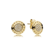 Pandora Shine Logo Stud Earrings