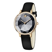Swarovski Crystal Lake Black & Rose Gold Watch
