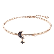 Swarovski Duo Rose Gold Moon Bangle
