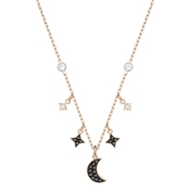 Swarovski Duo Rose Gold Moon Necklace