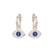 Swarovski Duo Evil Eye Hoop Earrings