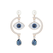 Swarovski Duo Evil Eye Statement Earrings