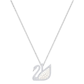 Swarovski Iconic Swan Large Pearl Necklace