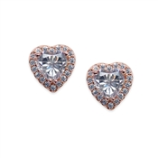 Carat* London Cora Rose Heart Stud Earrings